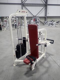 Life Fitness SU66 Seated Dip Machine w/ 220lb Max Weight Cap. SN 70201