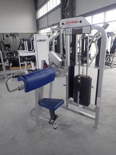 Life Fitness SU75 Arm Curl Machine w/ 190lb Max Weight Cap. SN 98311
