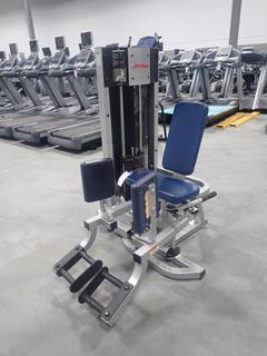 Life Fitness Hip Abduction/Adduction Machine w/ 160lb Max Weight Cap. *Note: Requires Repair*