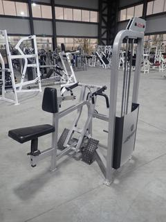 Life Fitness SU55 Seated Row Machine w/ 255lb Max Weight Cap. SN 67830