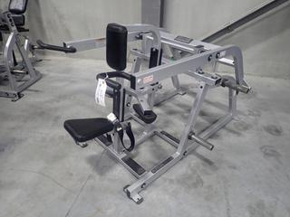 Hammer Strength Seated Dip Machine. SN 2302 *Note: Has Some Damage*