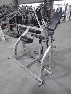 Hammer Strength Seated Leg Curl Machine. SN 3611