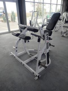 Hammer Strength Plate Loaded Leg Curl Machine
