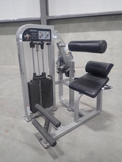 Life Fitness PSBESE Back Extension Machine w/ 305lb Max Weight Cap. SN PSBESE001175