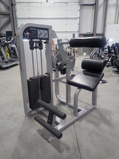 Life Fitness PSBESE Back Extension Machine w/ 305lb Max Weight Cap. SN PSBESE001177
