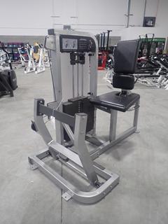 Life Fitness PSHCSE Horizontal Calf Machine w/ 380lb Max Weight Cap. SN PSHCSE000464