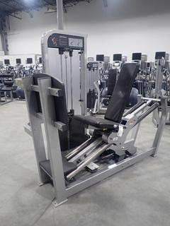 Life Fitness PSSLPSE Seated Leg Press Machine w/ 400lb Max Weight Cap. SN PSSLPSE001591