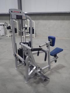Life Fitness SU55 Seated Row Machine w/ 255lb Max Weight Cap. SN 102103