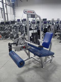 Life Fitness SL40 Seated Leg Curl Machine w/ 255lb Max Weight Cap. SN 102054