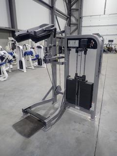 Life Fitness PSSCSE Standing Calf Machine w/ 400lb Max Weight Cap. SN PSSCSE0113016