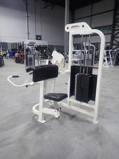 Life Fitness SU75 Arm Curl Machine w/ 190lb Max Weight Cap. SN 26154