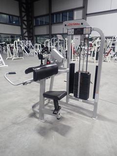 Life Fitness SU75 Arm Curl Machine w/ 190lb Max Weight Cap. SN 67836