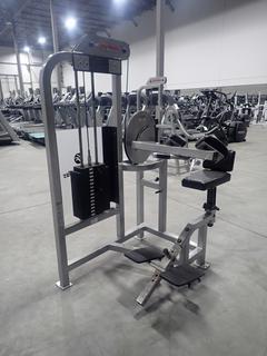 Life Fitness ST05 Abdominal Machine w/ 140lb Max Weight Cap. SN 84998