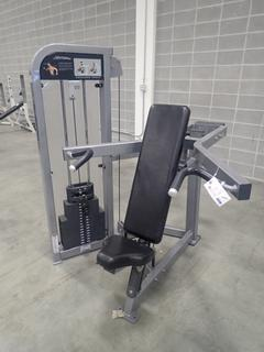 Life Fitness Shoulder Press Machine. SN PSSPSE1110015 *Note: This Item Is Located At 7103 68AVE NW- Location 2*