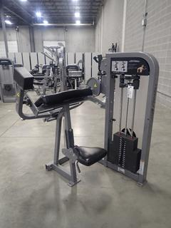 Life Fitness Biceps Curl Machine. SN PSBCSE1110022 *Note: This Item Is Located At 7103 68AVE NW- Location 2*