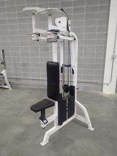 Life Fitness Pectoral Fly/Rear Deltoid Machine.  *Note: This Item Is Located At 7103 68AVE NW- Location 2*