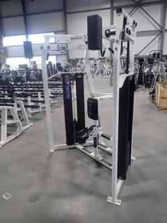 Hammer Strength MTS High Row Machine w/ 300lb Max Weight Cap. SN THR010454 *Note: Seat Missing Bolt*