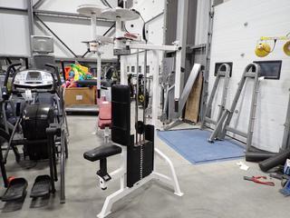 Life Fitness Pectoral Fly/Rear Deltoid Machine. SN 106705