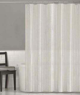 Darell Linen Stripe Fabric Single Shower Curtain