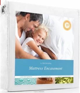 Linenspa Encasement Waterproof Mattress Cover, Twin