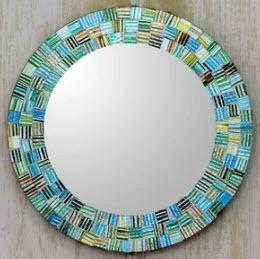 Artisan Crafted Modern & Contemporary Accent Mirror 10""