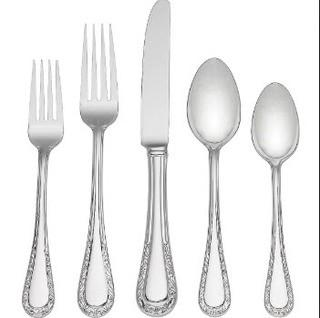 (8)Venetian Lace 5 Piece 18/10 Stainless steel Flatware Set, Service for 1