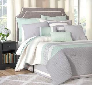 Dina 24 Piece Reversible Comforter Set, Queen