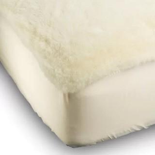 Down Under Lamb's Wool Mattress Pad, Queen