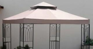 Sunjoy Replacement Gazebo top to L-GZ407PST-A-MN Beige 120.0 In. X 120.0 In. X 0.5 In.