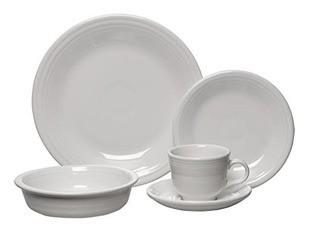 Fiesta 5 Piece Place Setting, Service for 1, White