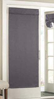 """Eclipse Tricia Window Door Panel, 26"""" by 68"""", Grey"""
