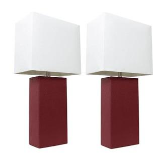 "(2) Jackson 21"" Table Lamp, Red"