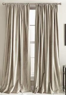 "(2)DKNY Modern Knotted Solid Color Blackout Rod Pocket Panel Pair 50x84"" Champagne"