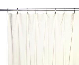 (15) Symple Stuff 5 Gauge Vinyl Single Shower Curtain Liner-Bone