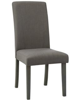 (2) Upholstered Dining Chairs, Grey