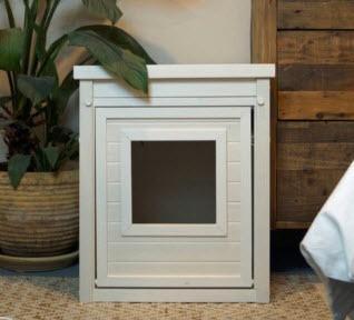 """NewAge Litter Box Enclosure, Antique White 22"""" H x 18.5"""" W x 23.6"""" D Size"""