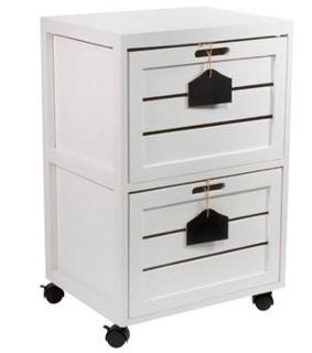 Helvic Crated 2 Drawer Mobile Vertical Filing Cabinet
