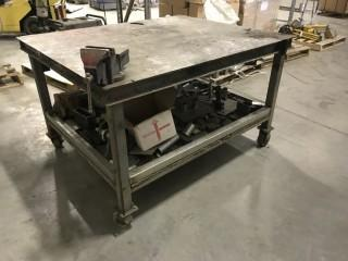 Steel Rolling Work Table