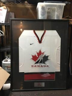 "Framed Team Canada Jersey 32.5"" x 41"""