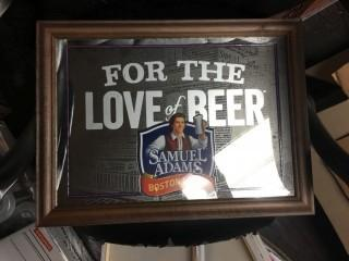 """Framed Samuel Adams """"For The Love of Beer"""" Picture 22"""" x 16""""."""
