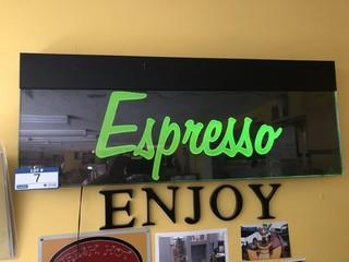 Large Neon Espresso Sign
