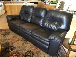 Leather Sofa With End Reclining Seats