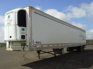 2009 Utility 53'T/A Van Trailer c/w Reefer, Air Ride Susp., 11R22.5 Tires. S/N 1UYVS25369U688804