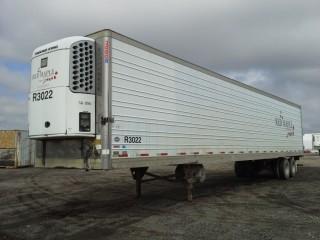 2002 Utility 53' T/A Van Trailer c/w Reefer, Air Ride Susp., 11R22.5 Tires. S/N 1UYVS25312U810801.