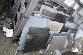 Qty Of Assorted Size Pieces Of Granite