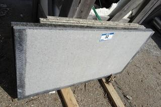 """Qty Of Assorted Size Pieces Of Granite (57 Pieces- 3'1 X 6"""")"""