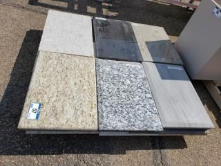 """Qty Of 1'4"""" X 2' Pieces Of Granite"""