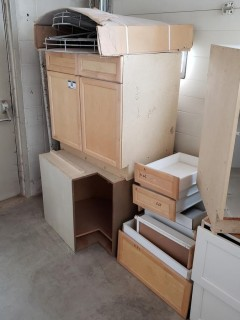 Qty Of Cabinets And Drawers C/w Lazy Susan