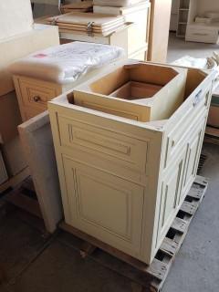 Qty Of (3) Cabinets C/w Granite Slab 2'2 X 2'11