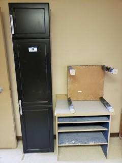 (1) Cabinet C/w Shelving Unit